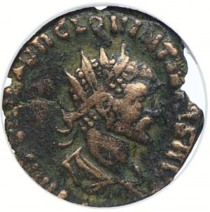 Cesarstwo Rzymskie, Kwintyllus 270, AE Antoninian, GCN VF20
