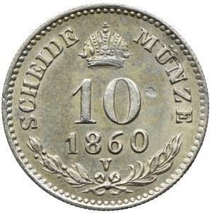 Austria, Franciszek Józef I, 10 krajcarów 1860, Wenecja