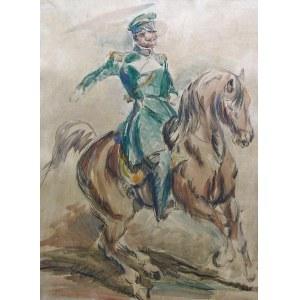 Eugeniusz Geppert (1890-1979), Oficer na koniu