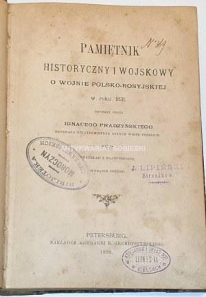 PRĄDZYŃSKI- PAMIĘTNIK HISTORYCZNY I WOJSKOWY O WOJNIE POLSKO-ROSYJSKIEJ wyd. 1898r.