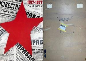 """Tadeusz Biernot, Oryginalny projekt plakatu wystawiany na Ogólnopolskim Biennale Plakatu Polskiego w Katowicach 1977 r. """"60 Rocznica Rewolucji Październikowej 1917-1977"""", 1977"""