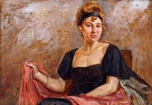 Wincenty WODZINOWSKI (1866 Igołomia k. Miechowa - Kraków 1940), Portret kobiety, 1919