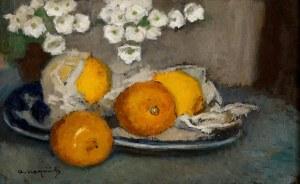 Alfons KARPIŃSKI (1875 Rozwadów - 1961 Kraków), Martwa natura z cytrynami