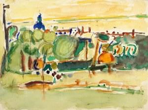 Tadeusz DOMINIK (1928 Szymanów - 2014 Warszawa), Pejzaż abstrakcyjny, 1956