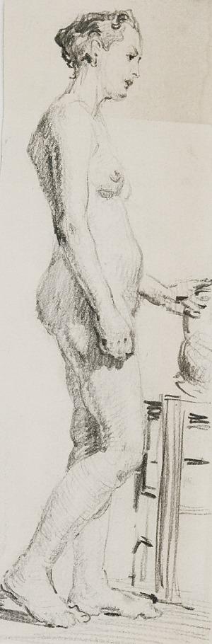Tadeusz BARWECKI-SZEWCZYK (1912-1999), Akt stojącej kobiety