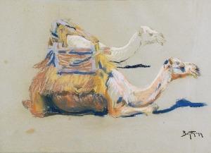 Abraham BEHRMANN (1876-1942), Wielbłądy