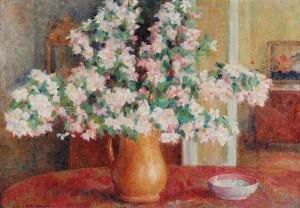 Zofia ALBINOWSKA-MINKIEWICZOWA (1886-1971), Gałązki kwitnącej wiśni w dzbanie