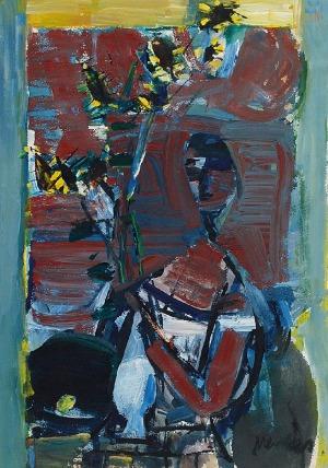 Zygmunt Józef MENKES (1896-1986), Kobieta z kwiatami, ok. 1948-50