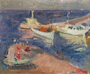 Zygmunt SCHRETER (1886-1977), Łodzie w porcie