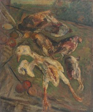 Emil KRCHA (1894 - 1972), Martwa natura z ptactwem