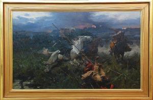 Józef BRANDT (1841-1915), Utarczka, ok. 1902