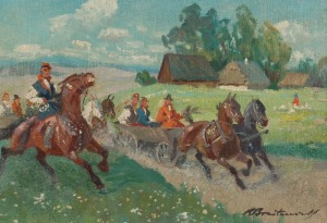 Antoni Roman BREITENWALD (1911-1985), Wesele krakowskie