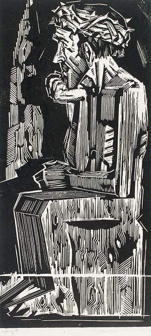 Andrzej KURKOWSKI (ur. 1927), Jezus Frasobliwy