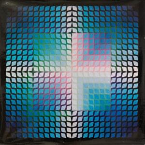 Victor Vasarely (1906-1997), QUASAR - PAAL 2, Z CYKLU: PROGRESSIONS, 1970 r.