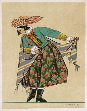 Zofia Stryjeńska (1894 - 1976), STRÓJ LUDOWY Z MAŁOPOLSKI , 1939 r.