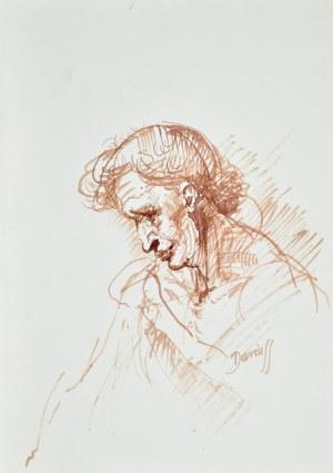 Dariusz Kaleta Dariuss (Ur. 1960), Szkic mężczyzny z pochyloną głową