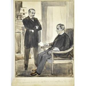 Wilhelm Wachtel (1875-1942), Kto mordercą (ilustracja do książki)
