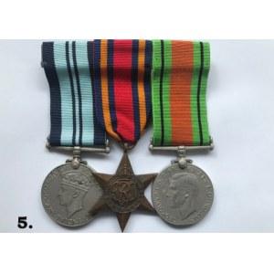 Brytyjskie trio medalowa II Wojna Światowa