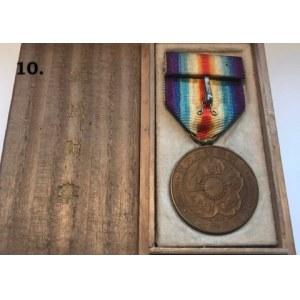 Japońska odmiana WW I Victory Medal z oryginalnym pudełkiem