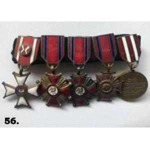Zestaw miniaturek medali PRL.