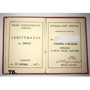 Medal 10-lecia Polski Ludowej