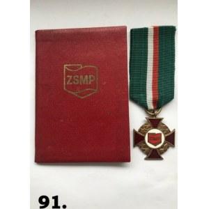 """Odznaka """"Za Zasługi dla Związku Socjalistycznej Młodzieży Polskiej""""."""