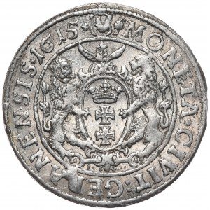 Zygmunt III Waza, ort 1615, Gdańsk, podwójny ozdobnik rozpoczyna napis otokowy na awersie