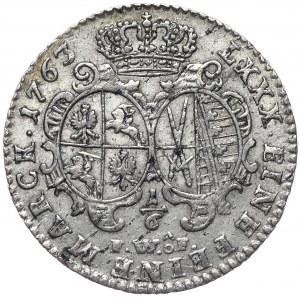 August III, 1/6 talara 1763 FWoF, Drezno
