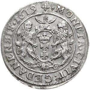 Zygmunt III Waza, ort 1619/18, Gdańsk, odmienna interpunkcja