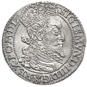 Zygmunt III Waza, szóstak 1599, Malbork, duża głowa