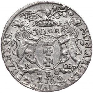 August III, złotówka (30 groszy) 1762, Gdańsk