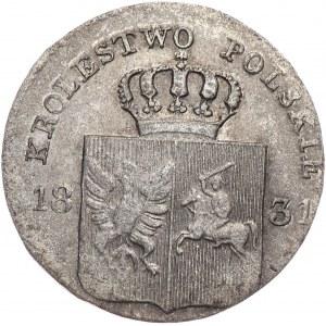 Powstanie Listopadowe, 10 groszy 1831, łapy Orła zgięte