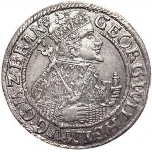 Prusy Książęce, Jerzy Wilhelm, ort 1624, Królewiec, z podwójnym znakiem mincerskim na awersie.