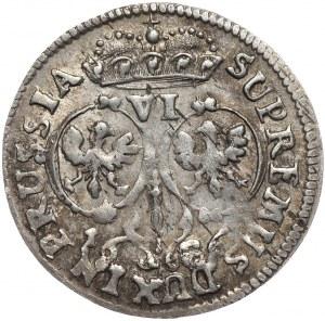 Prusy Księstwo, Fryderyk Wilhelm, szóstak 1686, Królewiec, większe popiersie