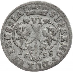 Prusy Księstwo, Fryderyk III, szóstak 1698, Królewiec