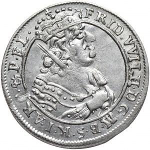 Prusy (księstwo), Fryderyk Wilhelm, ort 1685 HS, Królewiec, rozetka przed datą