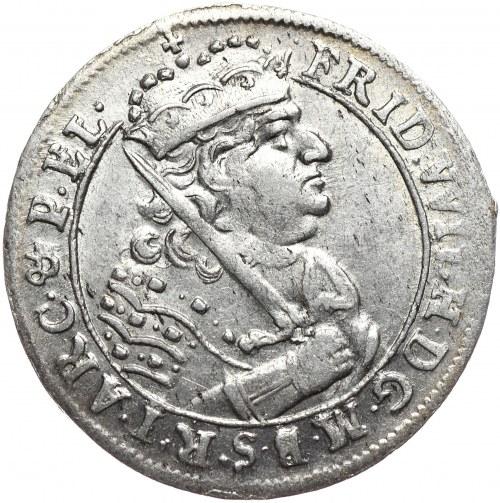 Prusy (księstwo), Fryderyk Wilhelm, ort 1685 HS, Królewiec, kropka przed datą