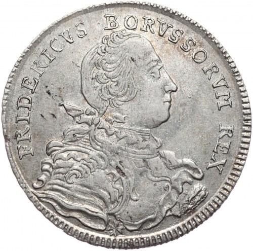 Prusy, Fryderyk II, półtalar 1751 B, Wrocław