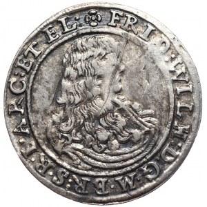 Prusy (księstwo), Fryderyk Wilhelm, 1/6 talara 1668 IL, Berlin