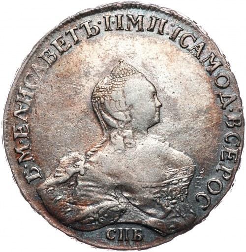 Rosja, Elżbieta, rubel 1757 СПБ-IМ , Petersburg, portret autorstwa Scotta