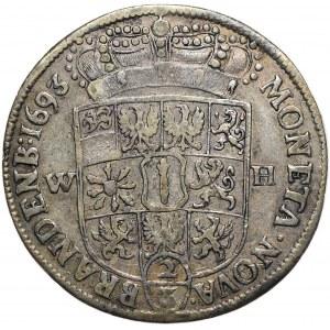 Prusy (księstwo), Fryderyk III, 2/3 talara (gulden) 1693 WH, Emmerich nad Renem