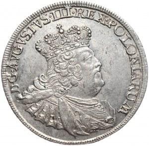August III, ort koronny 1756, Lipsk, mniejsza głowa