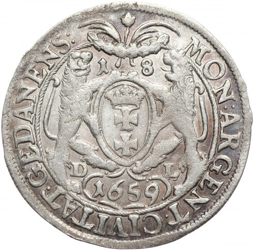 Jan Kazimierz, ort 1659 DL, Gdańsk