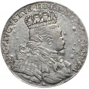August III, ort koronny 1754, Lipsk, buldogowate popiersie