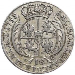 August III, ort koronny 1755, Lipsk,