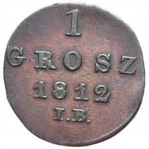 Księstwo Warszawskie, Fryderyk August I, grosz 1812 IB