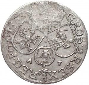 Jan II Kazimierz Waza, szóstak 1663, Kraków, bez obwódki na rewersie