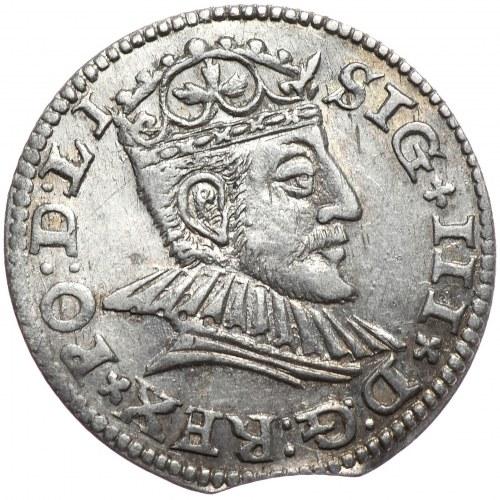 Zygmunt III Waza, trojak 1590 Ryga, mała głowa