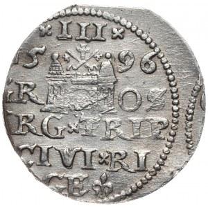 Zygmunt III Waza, trojak 1596, Ryga, nieopisany wariant interpunkcji