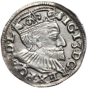Zygmunt III Waza, trojak 1592, Poznań, szeroka twarz króla, data z prawej